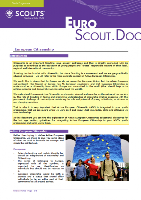 EuroScoutDoc – European Citizenship